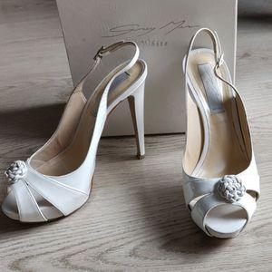 GreyMer (Italy) White Leather Sandal